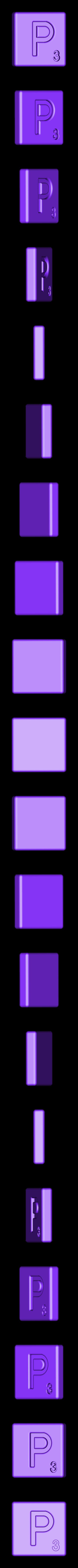 Single_Cut_P.STL Télécharger fichier STL gratuit Pièces et support SCRABBBLE • Design pour imprimante 3D, Balkhagal4D