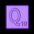 Single_Cut_Q.STL Télécharger fichier STL gratuit Pièces et support SCRABBBLE • Design pour imprimante 3D, Balkhagal4D