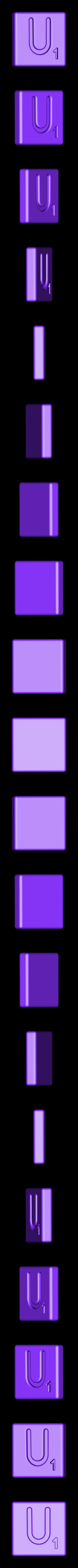 Single_Cut_U.STL Télécharger fichier STL gratuit Pièces et support SCRABBBLE • Design pour imprimante 3D, Balkhagal4D