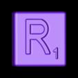 Single_Cut_R.STL Télécharger fichier STL gratuit Pièces et support SCRABBBLE • Design pour imprimante 3D, Balkhagal4D