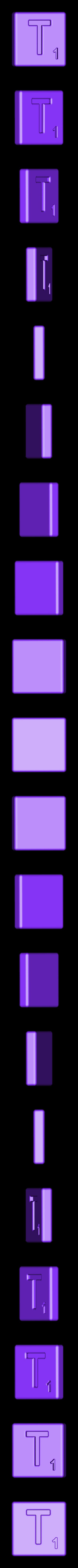 Single_Cut_T.STL Télécharger fichier STL gratuit Pièces et support SCRABBBLE • Design pour imprimante 3D, Balkhagal4D