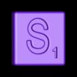 Single_Cut_S.STL Télécharger fichier STL gratuit Pièces et support SCRABBBLE • Design pour imprimante 3D, Balkhagal4D