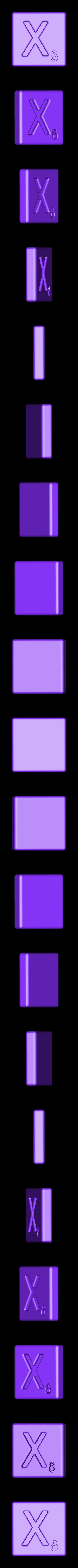Single_Cut_X.STL Télécharger fichier STL gratuit Pièces et support SCRABBBLE • Design pour imprimante 3D, Balkhagal4D