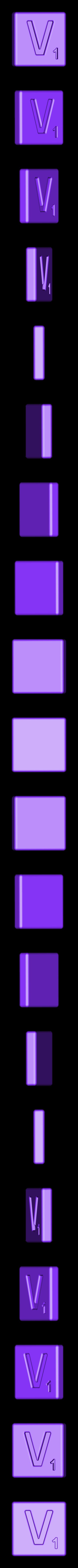 Single_Cut_V.STL Télécharger fichier STL gratuit Pièces et support SCRABBBLE • Design pour imprimante 3D, Balkhagal4D