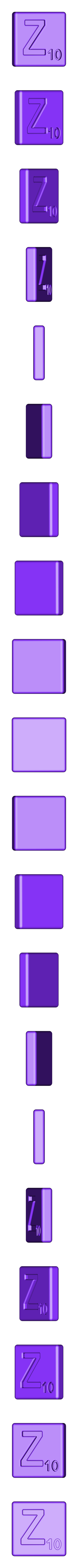 Single_Cut_Z.STL Télécharger fichier STL gratuit Pièces et support SCRABBBLE • Design pour imprimante 3D, Balkhagal4D