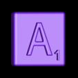 Single_Extruded_A.STL Télécharger fichier STL gratuit Pièces et support SCRABBBLE • Design pour imprimante 3D, Balkhagal4D