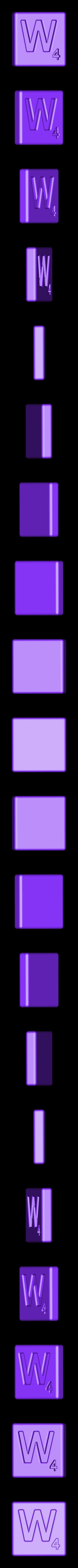 Single_Cut_W.STL Télécharger fichier STL gratuit Pièces et support SCRABBBLE • Design pour imprimante 3D, Balkhagal4D