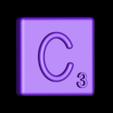 Single_Extruded_C.STL Télécharger fichier STL gratuit Pièces et support SCRABBBLE • Design pour imprimante 3D, Balkhagal4D