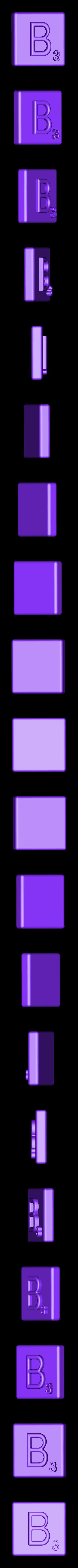 Single_Extruded_B.STL Télécharger fichier STL gratuit Pièces et support SCRABBBLE • Design pour imprimante 3D, Balkhagal4D