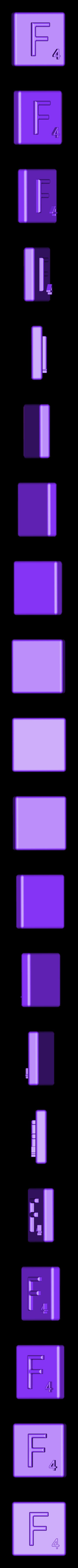 Single_Extruded_F.STL Télécharger fichier STL gratuit Pièces et support SCRABBBLE • Design pour imprimante 3D, Balkhagal4D