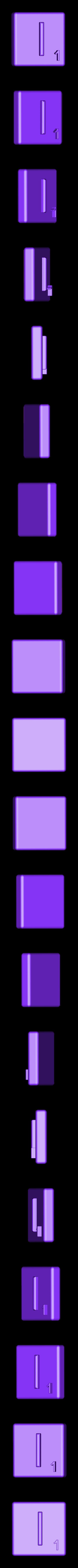 Single_Extruded_I.STL Télécharger fichier STL gratuit Pièces et support SCRABBBLE • Design pour imprimante 3D, Balkhagal4D