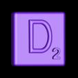Single_Extruded_D.STL Télécharger fichier STL gratuit Pièces et support SCRABBBLE • Design pour imprimante 3D, Balkhagal4D