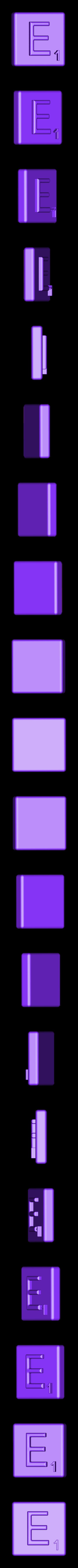 Single_Extruded_E.STL Télécharger fichier STL gratuit Pièces et support SCRABBBLE • Design pour imprimante 3D, Balkhagal4D