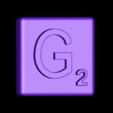 Single_Extruded_G.STL Télécharger fichier STL gratuit Pièces et support SCRABBBLE • Design pour imprimante 3D, Balkhagal4D