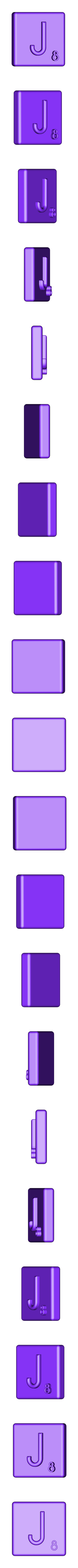 Single_Extruded_J.STL Télécharger fichier STL gratuit Pièces et support SCRABBBLE • Design pour imprimante 3D, Balkhagal4D