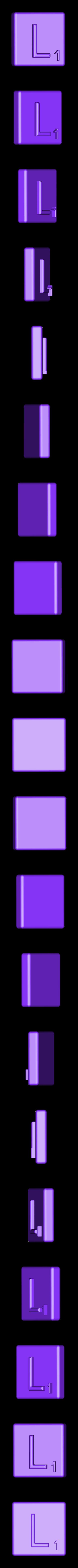 Single_Extruded_L.STL Télécharger fichier STL gratuit Pièces et support SCRABBBLE • Design pour imprimante 3D, Balkhagal4D