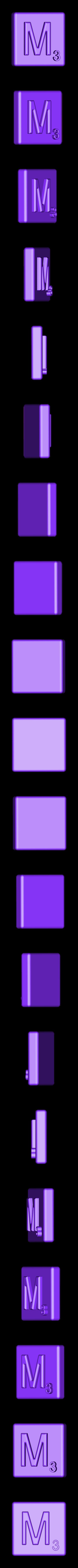 Single_Extruded_M.STL Télécharger fichier STL gratuit Pièces et support SCRABBBLE • Design pour imprimante 3D, Balkhagal4D