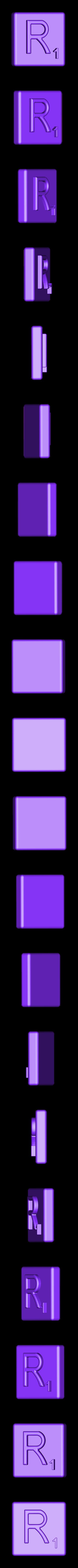 Single_Extruded_R.STL Télécharger fichier STL gratuit Pièces et support SCRABBBLE • Design pour imprimante 3D, Balkhagal4D