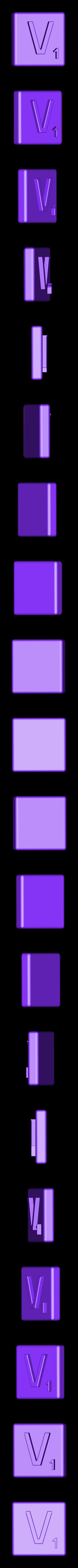 Single_Extruded_V.STL Télécharger fichier STL gratuit Pièces et support SCRABBBLE • Design pour imprimante 3D, Balkhagal4D