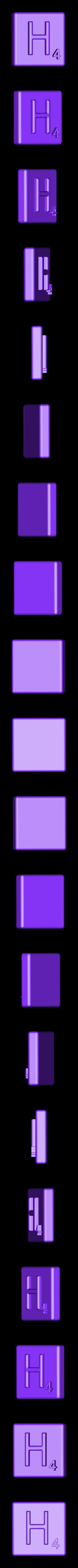 Single_Extruded_H.STL Télécharger fichier STL gratuit Pièces et support SCRABBBLE • Design pour imprimante 3D, Balkhagal4D
