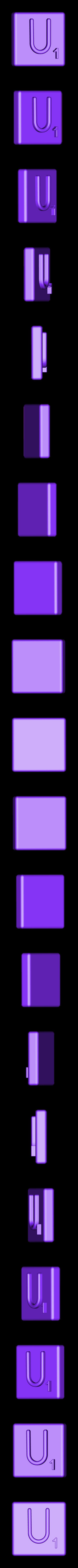 Single_Extruded_U.STL Télécharger fichier STL gratuit Pièces et support SCRABBBLE • Design pour imprimante 3D, Balkhagal4D