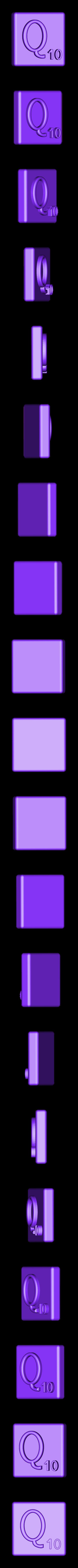 Single_Extruded_Q.STL Télécharger fichier STL gratuit Pièces et support SCRABBBLE • Design pour imprimante 3D, Balkhagal4D