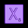 Single_Extruded_X.STL Télécharger fichier STL gratuit Pièces et support SCRABBBLE • Design pour imprimante 3D, Balkhagal4D