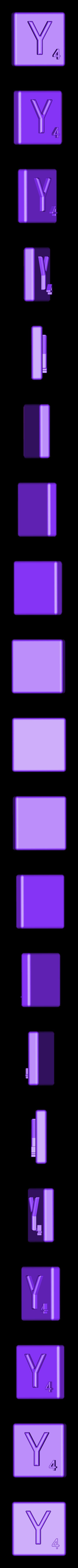 Single_Extruded_Y.STL Télécharger fichier STL gratuit Pièces et support SCRABBBLE • Design pour imprimante 3D, Balkhagal4D