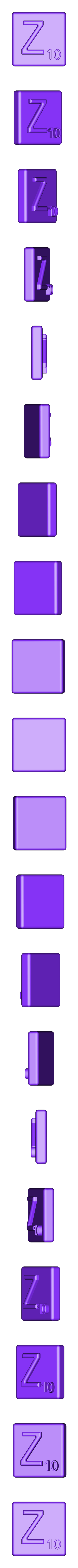Single_Extruded_Z.STL Télécharger fichier STL gratuit Pièces et support SCRABBBLE • Design pour imprimante 3D, Balkhagal4D
