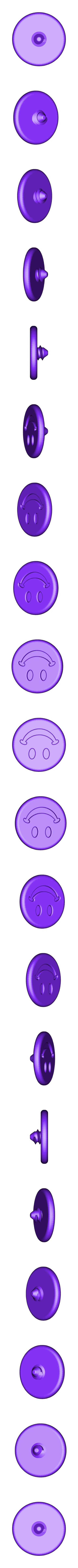 Smiley_Single.STL Download free STL file SMILEY FACE Golf Ball Marker • 3D printing design, Balkhagal4D
