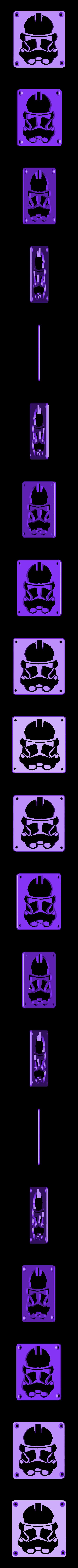 StormTrooper_Plate.STL Download free STL file StormTrooper LED Light/Nightlight • 3D print template, Balkhagal4D