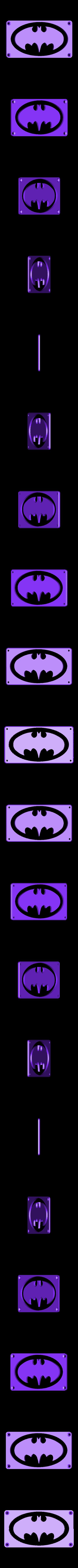 BatMan_Plate.STL Download free STL file BATMAN LED Light/Nightlight • 3D print design, Balkhagal4D