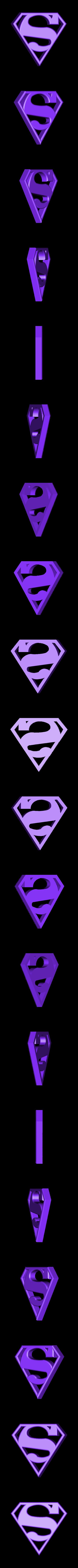 SuperMan.STL Télécharger fichier STL gratuit SUPERMAN LED Lumière / Lumière de nuit • Plan imprimable en 3D, Balkhagal4D