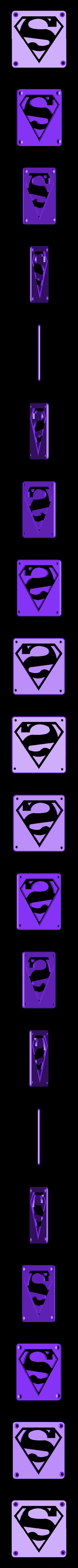 SuperMan_Plate.STL Télécharger fichier STL gratuit SUPERMAN LED Lumière / Lumière de nuit • Plan imprimable en 3D, Balkhagal4D
