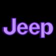 Jeep.STL Télécharger fichier STL gratuit Emblème Jeep Lumière LED / Veilleuse • Objet pour impression 3D, Balkhagal4D