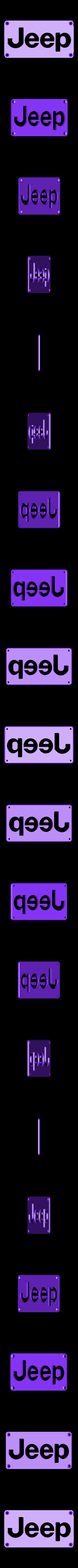 Jeep_Plate.STL Télécharger fichier STL gratuit Emblème Jeep Lumière LED / Veilleuse • Objet pour impression 3D, Balkhagal4D