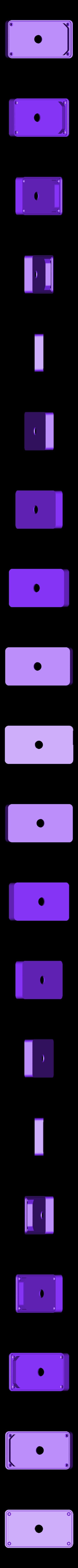 LargeRect_BackCase.STL Télécharger fichier STL gratuit Emblème Jeep Lumière LED / Veilleuse • Objet pour impression 3D, Balkhagal4D