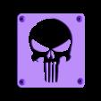 Punisher_Plate.STL Download free STL file Punisher LED Light/Nightlight • 3D printer object, Balkhagal4D
