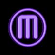 MB_M_Logo.STL Télécharger fichier STL gratuit Makerbot M Logo Lampe de nuit/lampe de nuit LED • Design à imprimer en 3D, Balkhagal4D