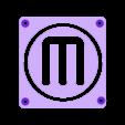 MB_M_Plate.STL Télécharger fichier STL gratuit Makerbot M Logo Lampe de nuit/lampe de nuit LED • Design à imprimer en 3D, Balkhagal4D