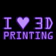 ILove3DP_Letters.STL Télécharger fichier STL gratuit I <3 Impression 3D LED Signalétique / Lumière nocturne • Design pour imprimante 3D, Balkhagal4D