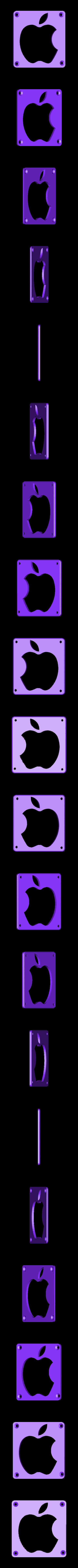 Apple_Plate.STL Télécharger fichier STL gratuit Lampe de nuit / Lampe de nuit à DEL avec logo Apple • Plan pour imprimante 3D, Balkhagal4D