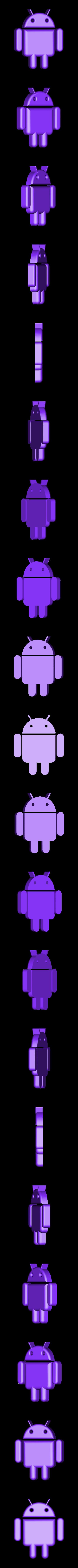 Android.STL Télécharger fichier STL gratuit Lampe de nuit/lampe de nuit Android Robot LED • Plan à imprimer en 3D, Balkhagal4D