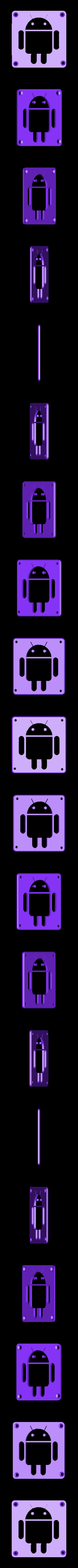 Android_Plate.STL Télécharger fichier STL gratuit Lampe de nuit/lampe de nuit Android Robot LED • Plan à imprimer en 3D, Balkhagal4D