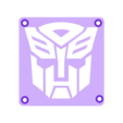 AutoBot_Plate.STL Download free STL file Autobot Transformers LED Nightlight/Lamp • 3D printing template, Balkhagal4D