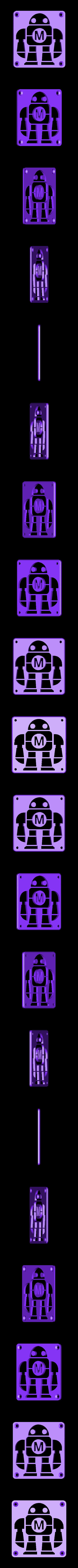 MakeRobot_Plate.STL Download free STL file Maker Faire LED Robot sign/nightlight • 3D printer object, Balkhagal4D