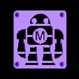 MakeRobot_Plate.STL Télécharger fichier STL gratuit Maker Faire LED Enseigne de robot / veilleuse de nuit • Objet à imprimer en 3D, Balkhagal4D
