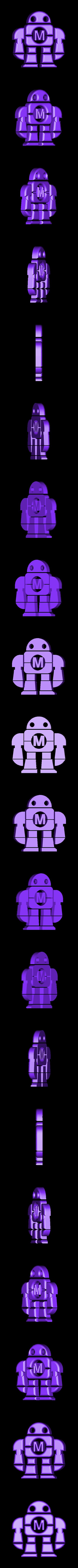 MakeRobot.STL Download free STL file Maker Faire LED Robot sign/nightlight • 3D printer object, Balkhagal4D