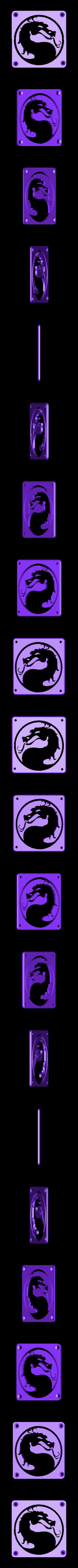 MortalCombat_Plate.STL Download free STL file Mortal Kombat LED Light/NightLight • Object to 3D print, Balkhagal4D
