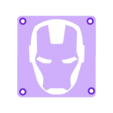 IronMan_Plate.STL Download free STL file IRONMAN LED Light/Nighlight • 3D printer design, Balkhagal4D